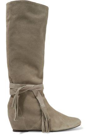 SCHUTZ Tasseled suede knee boots