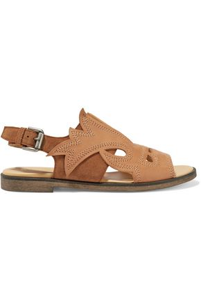 MM6 MAISON MARGIELA Laser-cut leather and suede sandals