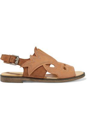 MM6 MAISON MARGIELA Laser-cut leather and suede sandals