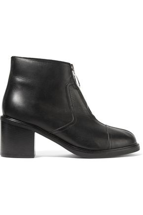 MM6 MAISON MARGIELA Zip-embellished leather ankle boots