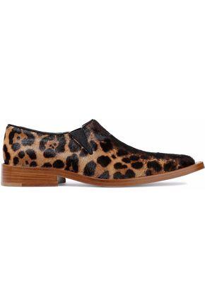 VICTORIA BECKHAM Leopard-print calf hair loafers