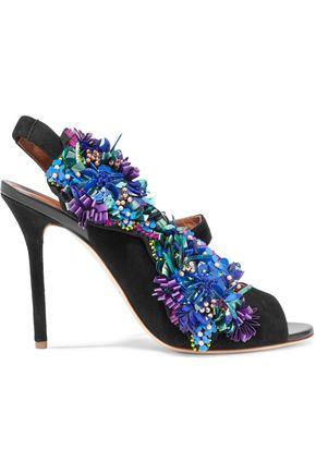 MALONE SOULIERS Embellished surde sandals