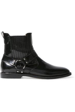 DIEPPA RESTREPO Ace glossed-leather ankle boots
