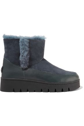 AUSTRALIA LUXE COLLECTIVE Colman leather-paneled shearling ankle boots