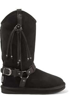AUSTRALIA LUXE COLLECTIVE Harness embellished shearling boots