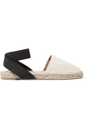 CASTAÑER Canvas and grosgrain espadrilles