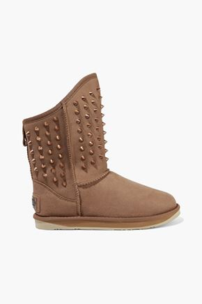 Australia Luxe Collective AUSTRALIA LUXE COLLECTIVE WOMAN PISTOL STUDDED SHEARLING BOOTS BROWN