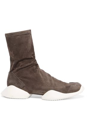 RICK OWENS + adidas Originals suede ankle boots