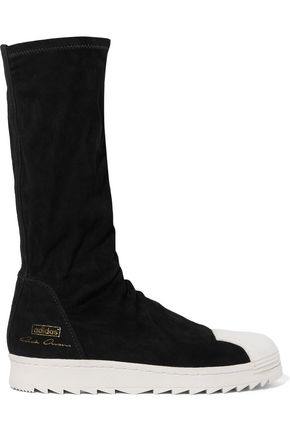 RICK OWENS + adidas Originals Superstar suede knee boots