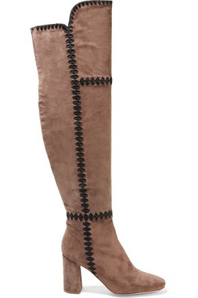 SIGERSON MORRISON Steele embroidered suede over-the-knee boots