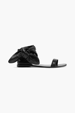 IRO Nilow smooth and textured-leather sandals