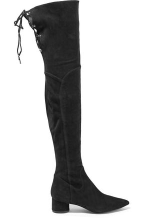 SIGERSON MORRISON Zetan lace-up suede over-the-knee boots
