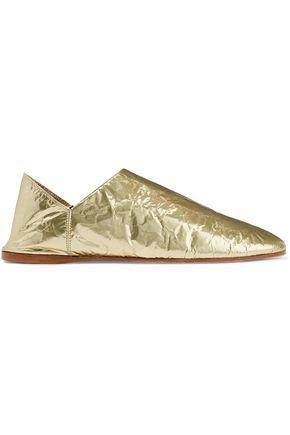 ACNE STUDIOS Agata metallic foiled leather loafers