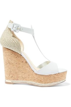 PALOMA BARCELÓ Marielle leather cork wedge sandals