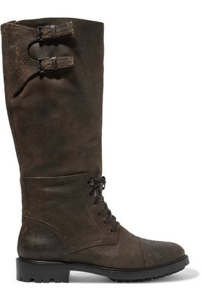 BELSTAFF Trailmaster leather knee boots