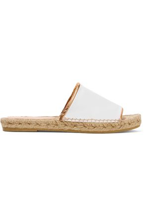 ROBERT CLERGERIE Ela leather espadrille slides