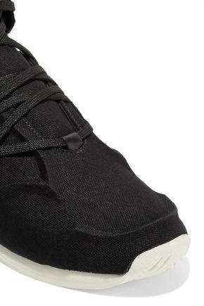 magasin en ligne f2bb4 b0fec adidas Originals YY Femme suede and leather-trimmed canvas ...