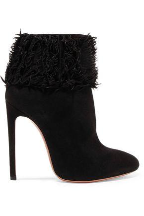 ALAÏA Fringed suede boots