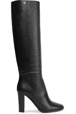 JIMMY CHOO Haywood textured-leather knee boots