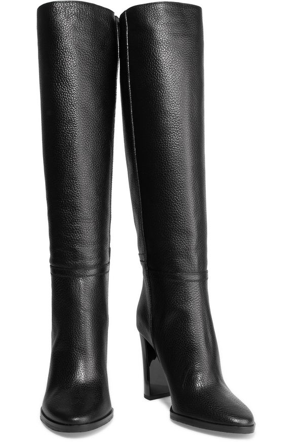 7c8d81e61d9 Haywood textured-leather knee boots
