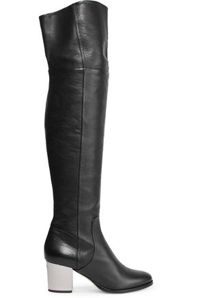 JIMMY CHOO Textured-leather boots