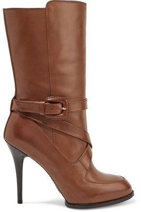 TOD'S Buckled leather boots