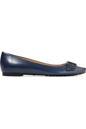 TOD'S Buckle-embellished leather flats
