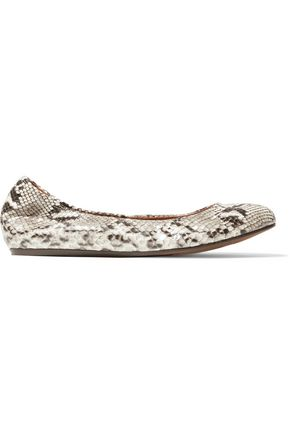 LANVIN Snake-effect leather ballet flats