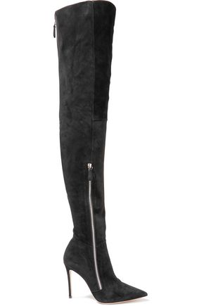 GIANVITO ROSSI Suede thigh boots