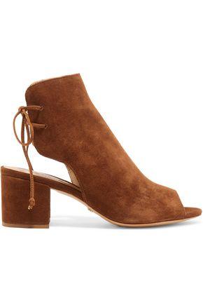 SCHUTZ Cutout suede ankle boots