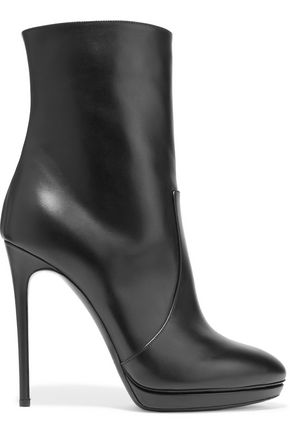 CASADEI Glossed-leather ankle boots