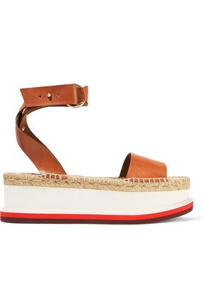 STELLA McCARTNEY Faux leather platform espadrilles