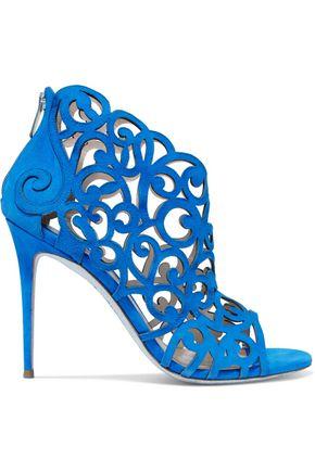 RENE' CAOVILLA Laser-cut suede sandals