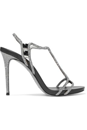 René Caovilla Leather Embellished Sandals buy cheap official site fake cheap online cheap sale new limited edition for sale QttdLym9Lt