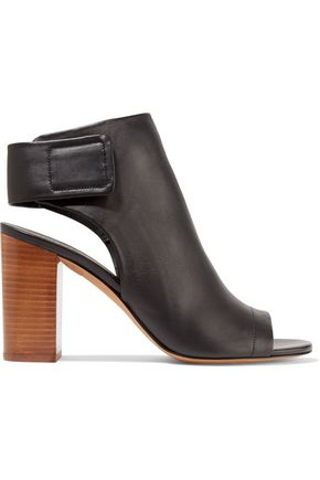VINCE. Faye leather ankle boots