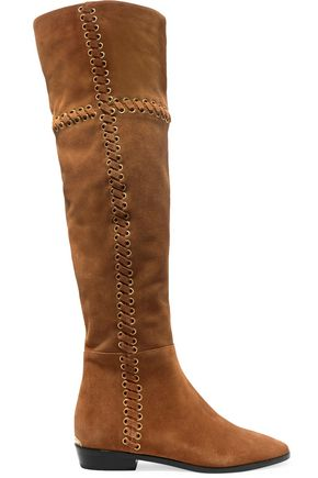 MICHAEL MICHAEL KORS Whipstitched nubuck knee boots