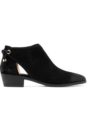 MICHAEL MICHAEL KORS Jennings cutout suede ankle boots