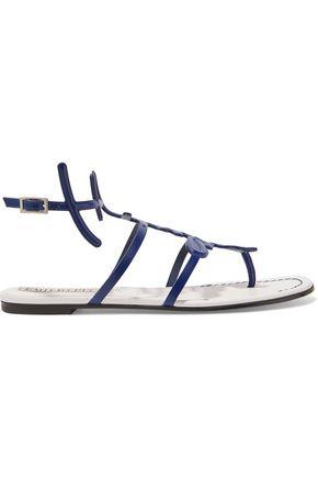 EMILIO PUCCI Printed textured-leather sandals