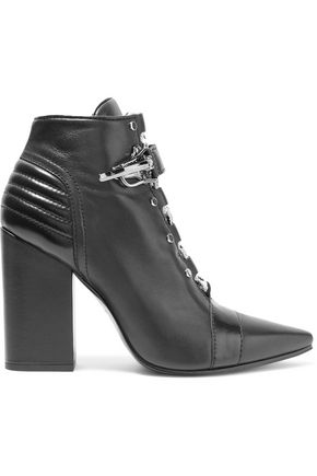 EMILIO PUCCI Paneled quilted leather ankle boots
