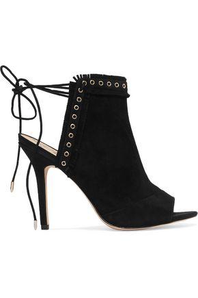 SAM EDELMAN Eyelet-embellished suede sandals