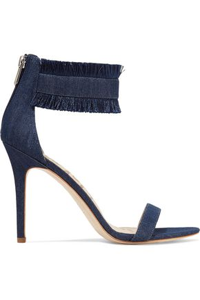 SAM EDELMAN Anabeth fringed denim sandals