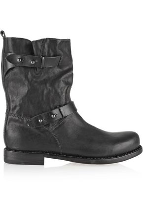 RAG & BONE Moto textured-leather biker boots