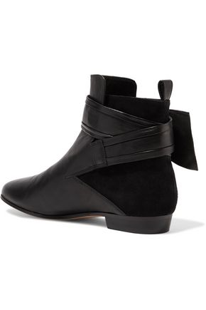 IRO Omel buckled suede and leather ankle boots