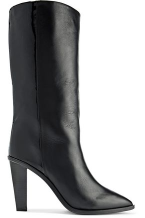 IRO Nyasha paneled smooth and patent-leather boots