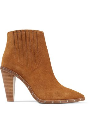 IRO Stud-embellished suede ankle boots