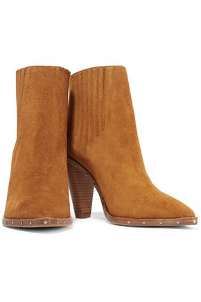 ... IRO Stud-embellished suede ankle boots ...