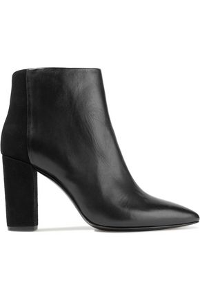 IRO Paneled leather and suede ankle boots
