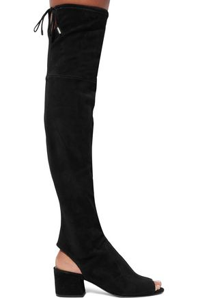 SIGERSON MORRISON Cutout stretch-suede over-the-knee boots