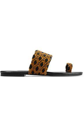 NEWBARK Roma V quilted jacquard sandals