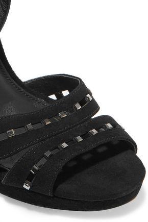 ce3112da7b74 ... MICHAEL MICHAEL KORS Studded cutout suede sandals ...